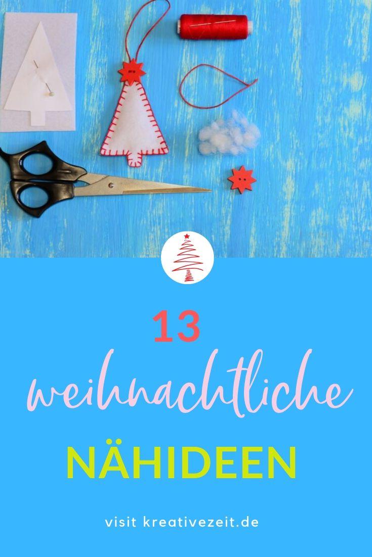 13 weihnachtliche Nähideen