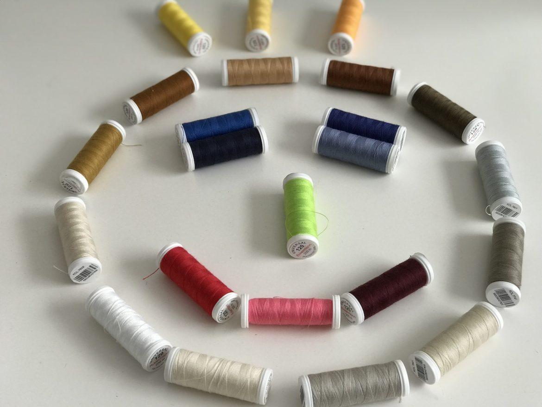 5 Garnrollen Spulen Overlock Nähgarn Polyester Nähfaden Nähmaschinen Garn 2#
