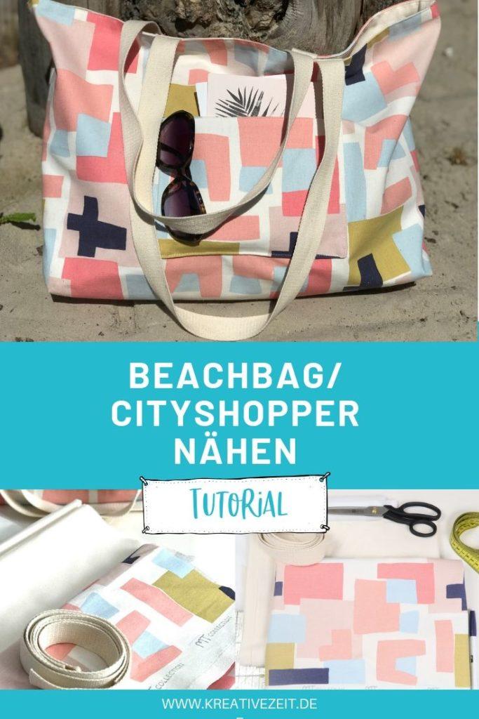 einfache Strandtasche nähen